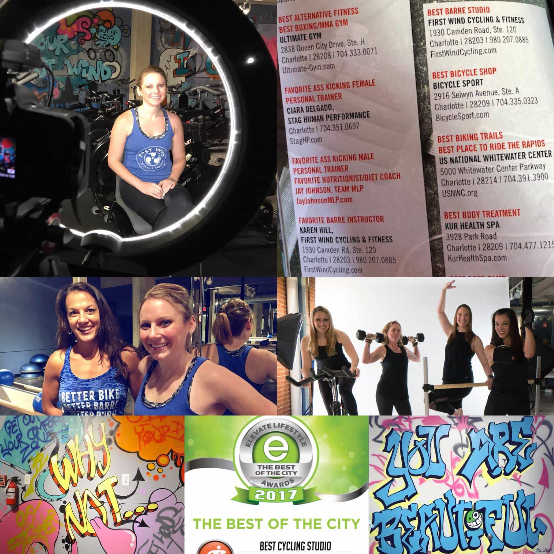 First Wind Cycling & Fitness Studio celebration Charlotte