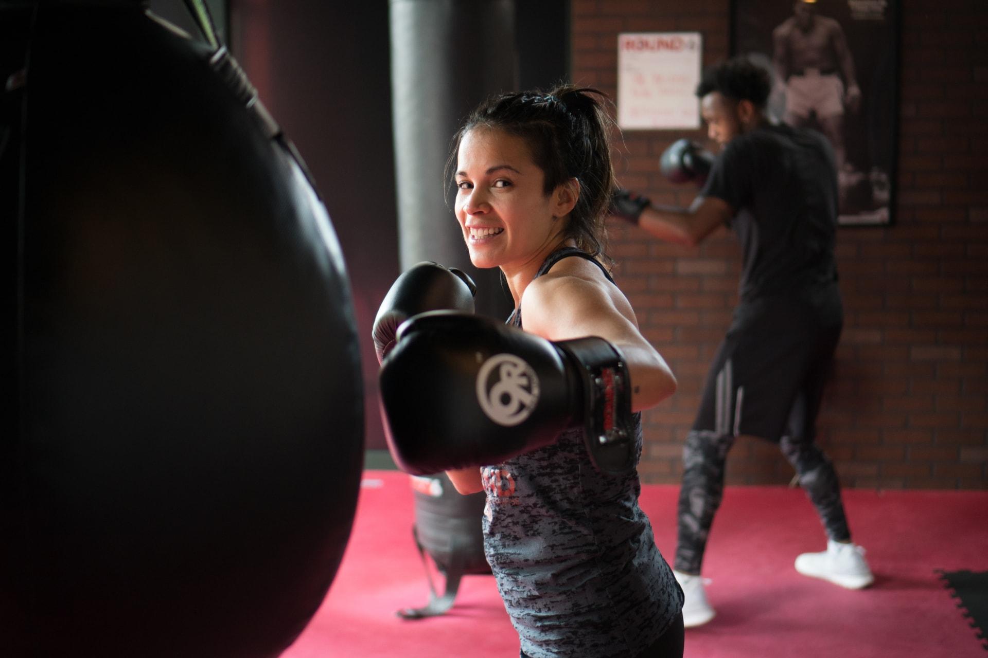Punching bag at 9round Charlotte