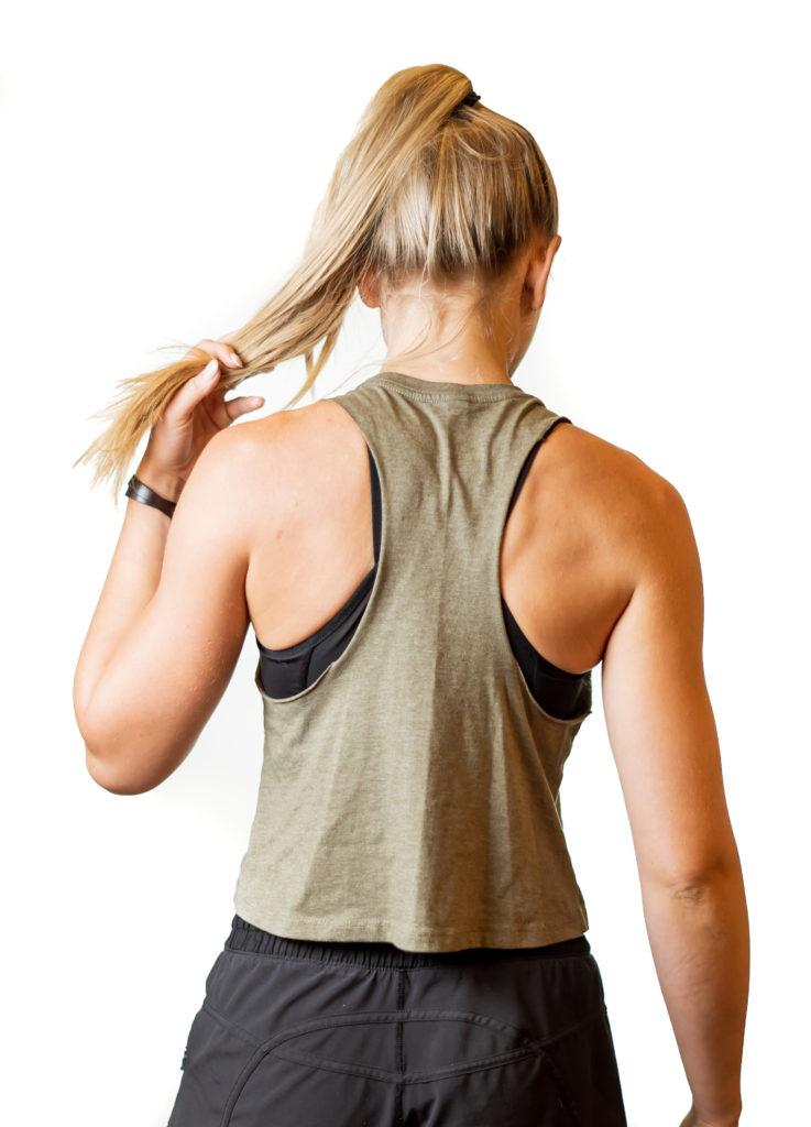 Girl wearing sweatnet Charlotte shirt