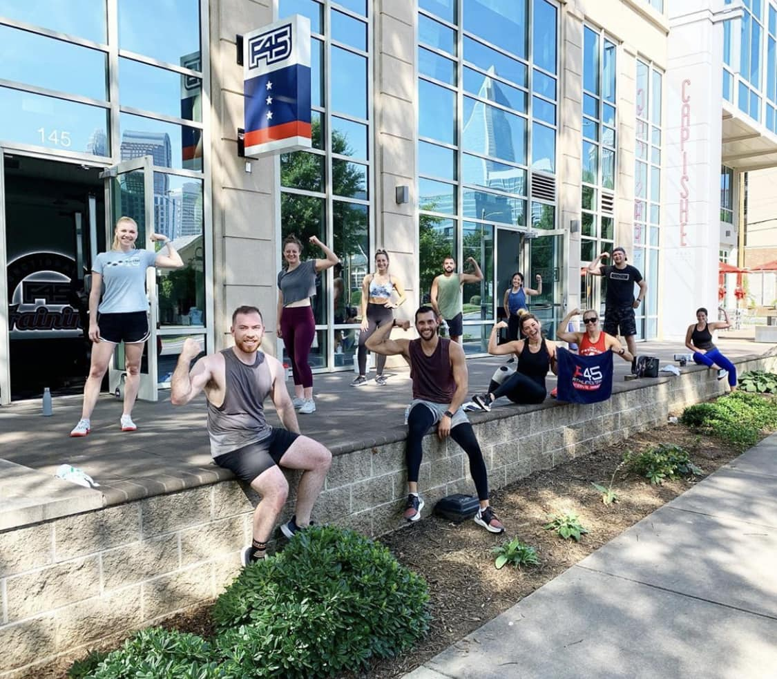 f45 midtown charlotte outdoor bootcamp