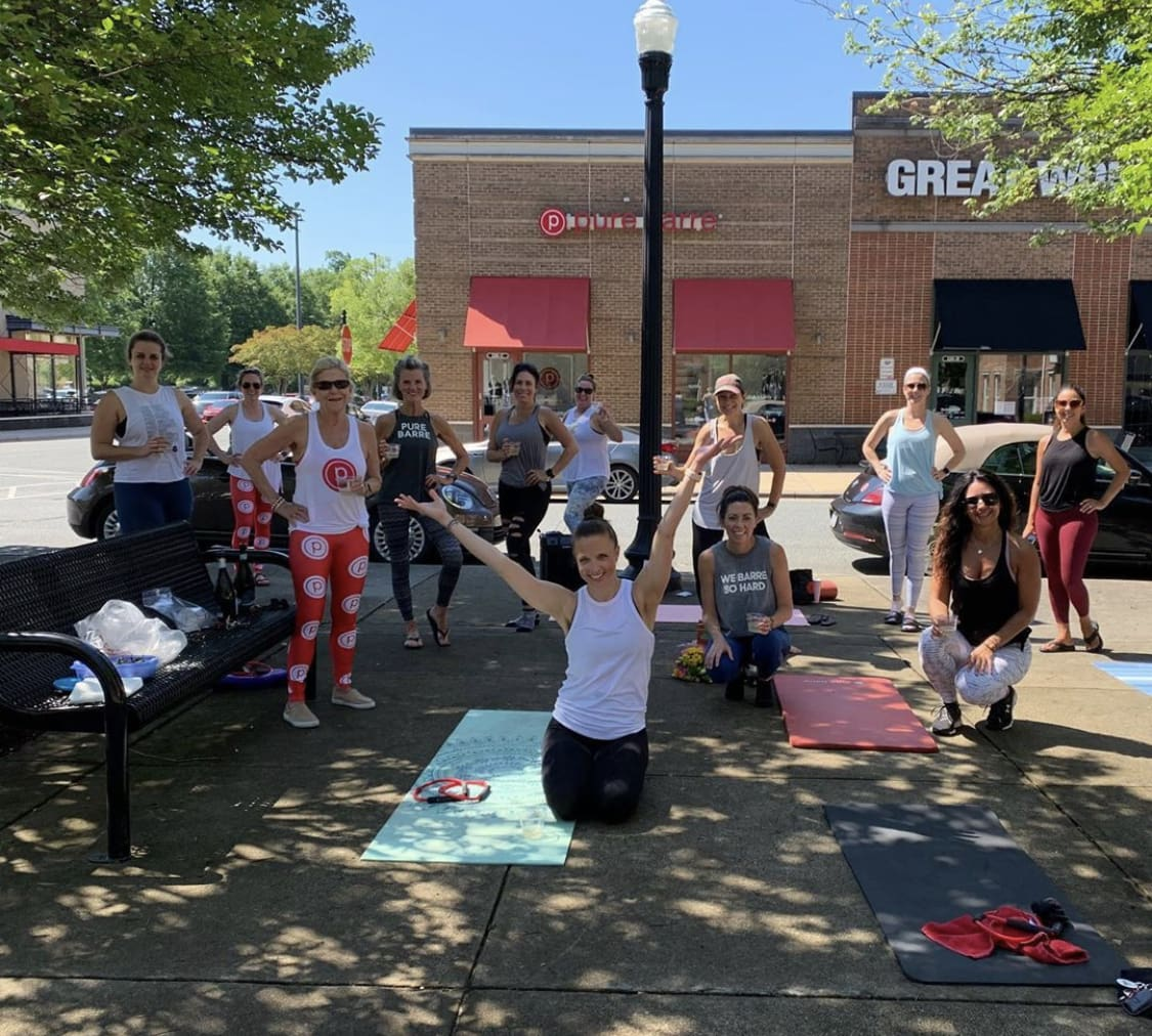 pure barre lake norman outdoor class