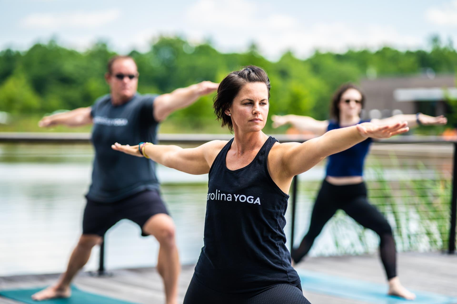 carolina yoga class outdoor