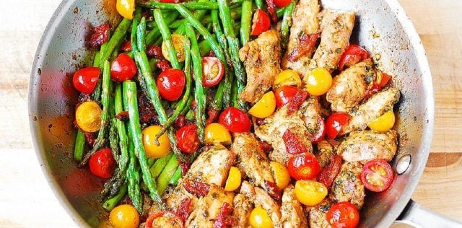 pesto chicken veggies