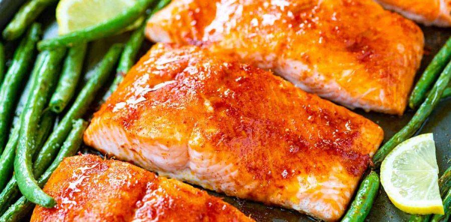 One-Sheet Asian Inspired Salmon & Petite Green Beans