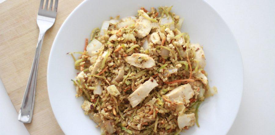 Cauliflower Stir Fry with Chicken