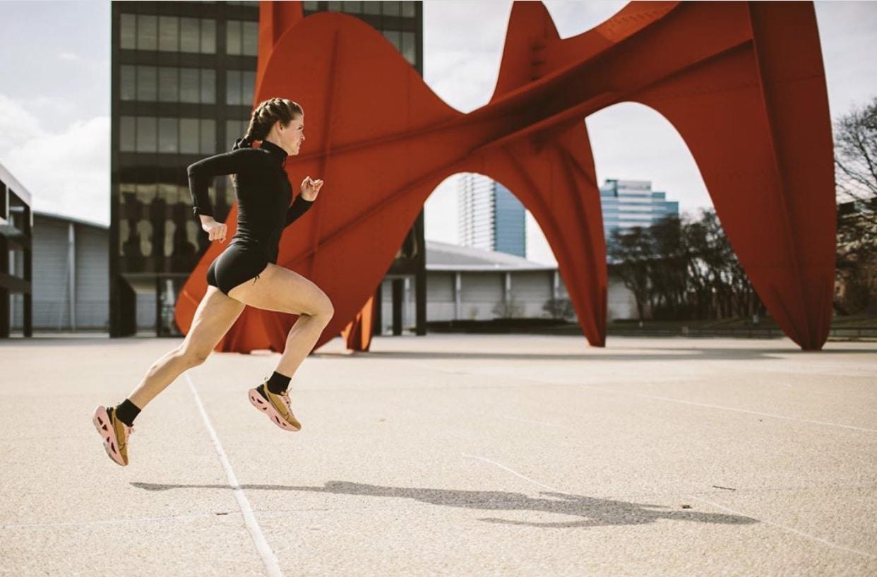 sweatnet girl running